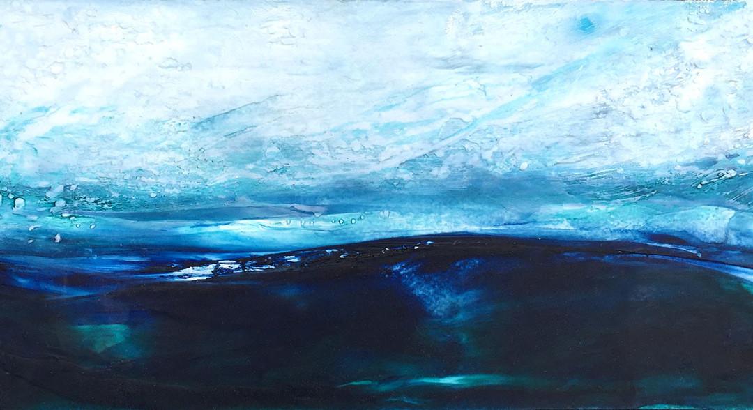 Ocean background painting